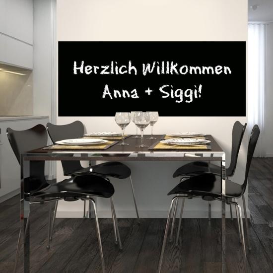 Selbstklebende Tafelfolie für Kreide_100x75cm schwarz