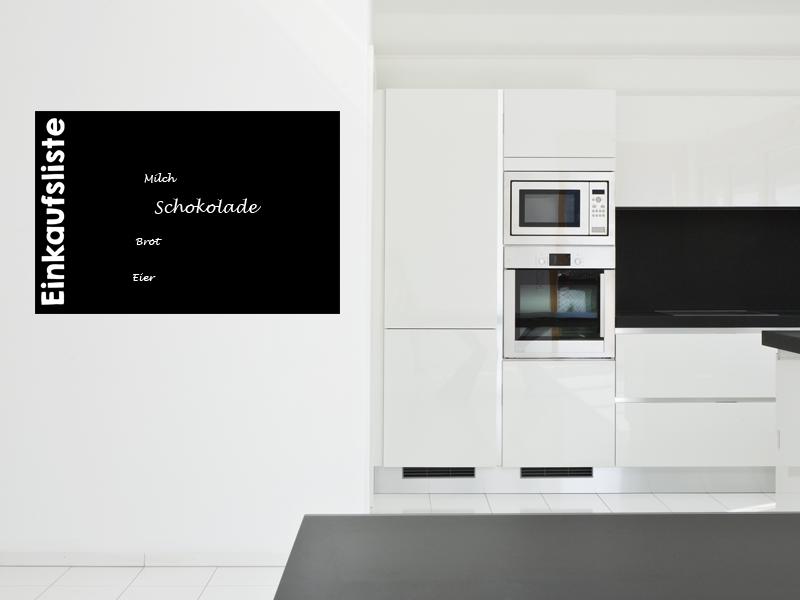 120 x 80 cm   Tafelfolie 🛒 Einkaufsliste 🛒    Kreide & Kreidestift   schwarz   selbstklebend
