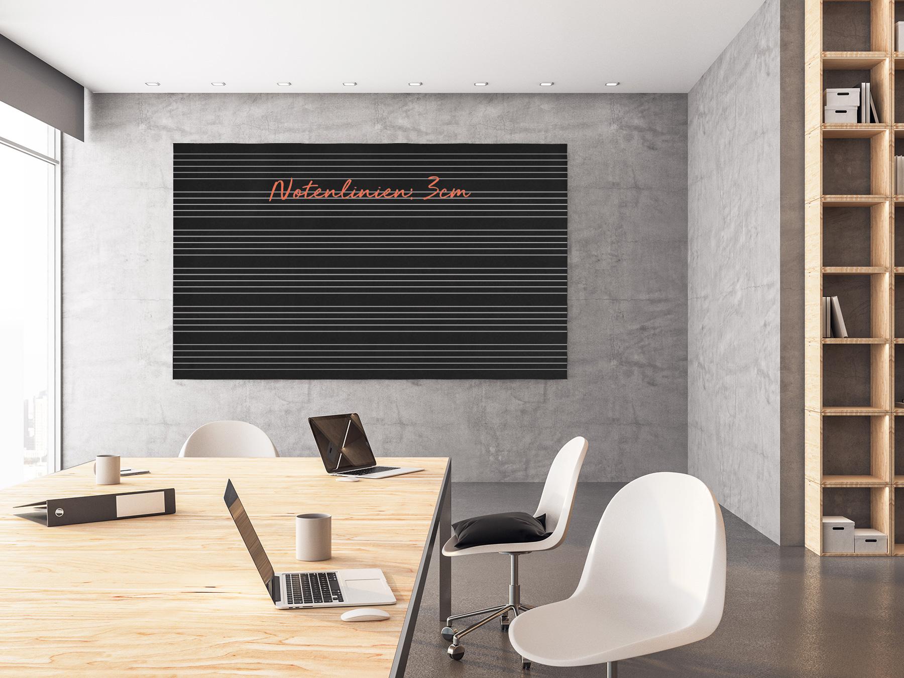 100x100cm   Schreibfolie   Notenlinien   3cm   selbstklebend    Kreide & Kreidestift   schwarz