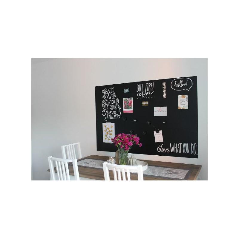 Selbstklebende magnetische Tafelfolie für Kreidestifte_150x100 cm schwarz