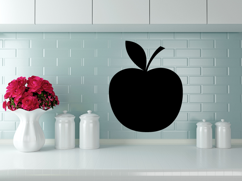100 x 80 cm   Tafelfolie 🍏 Apfel 🍏    Kreide & Kreidestift   schwarz   selbstklebend