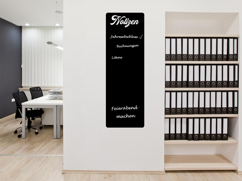 120 x 40 cm   Büroplaner Tafelfolie    Kreide & Kreidestift   schwarz   selbstklebend